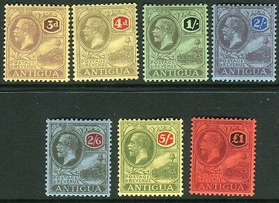 ANTIGUA-1921-9  A mounted mint set Sg 55-61