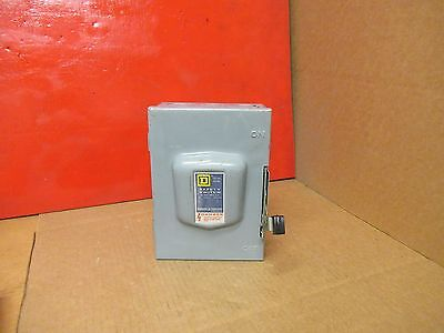 Square D Non Fused Safety Disconnect Switch Du321 30A A Amps 240V Volts 3 Pole