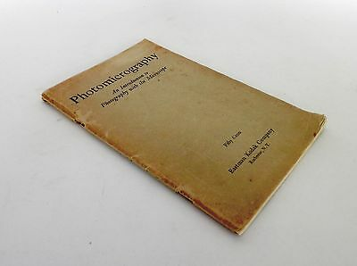 Photomicrography - An Introduction to Photography with the Microscope 1932 #1585