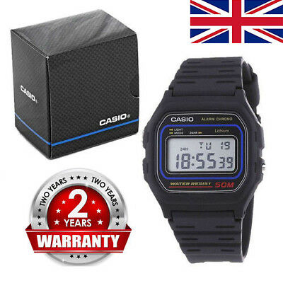 BRAND NEW Genuine Casio Retro Alarm Digital Chronograph LCD Watch W-59-1VQES