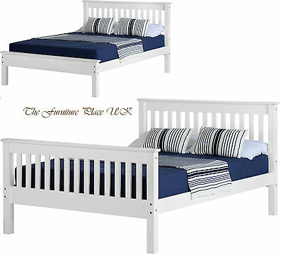 Monaco 4ft small double or 4ft 6 Double Low OR High End Bed Frame in White