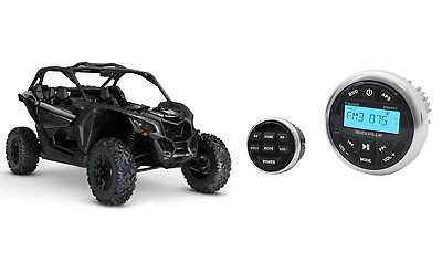 Rockville RGHR2 Gauge Hole Bluetooth Receiver+Wired Remote For Can-Am Maverick