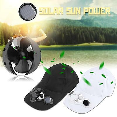 Outdoor Hat Cap With Solar Sun Power Cool Fan For Cycling Camping Z3H9