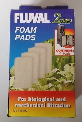 Fluval 2 Plus (2+) Foam Pads Pack of 4 Filter Replacement