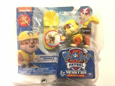 NEW Nickelodeon Paw Patrol Winter Rescues Action Pack Pup Snowboard Rubble