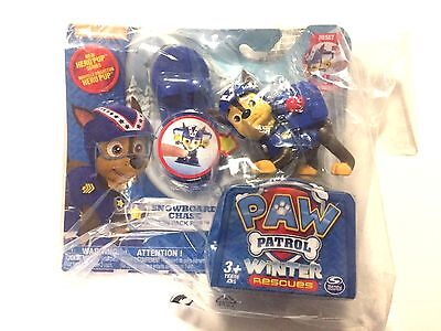 NEW Nickelodeon Paw Patrol Winter Rescues Action Pack Pup Snowboard Chase