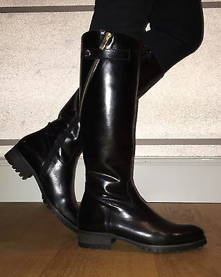 e150a260c32 LADIES BLACK LEATHER Knee High Boots - Size 6 - £50.00