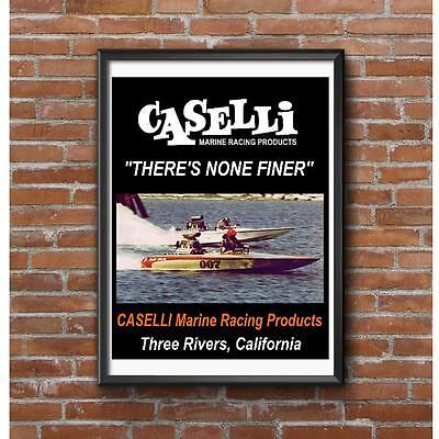 Caselli Marine Racing Products Poster - Drag Boats Three Rivers California