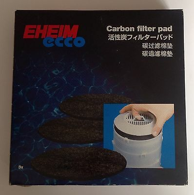 Eheim Ecco Carbon Filter Pad 3 Pack External Filter Replacement 2231, 2233, 2235