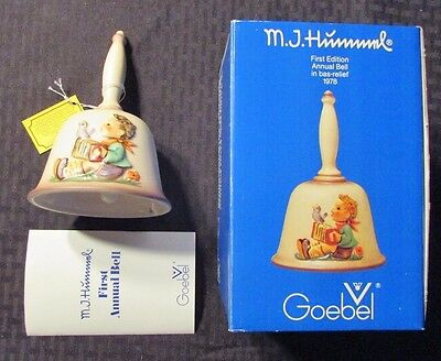 1978 HUMMEL GOEBEL First Edition Annual Bell Bas-Relief NM in Box