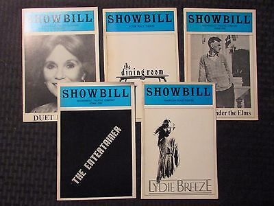 SHOWBILL Magazine LOT of 5 Duet / Entertainer / Lydie / Dinning Room / Desire