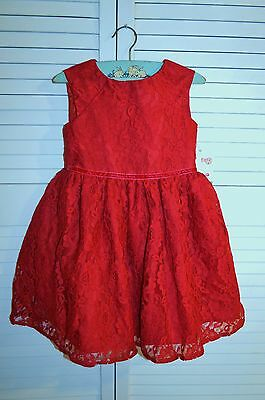 """NWT! Cat & Jack """"Red Pop"""" lace party dress - 3T, 4T, 5T - retail $23.99"""