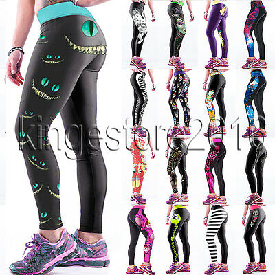 Women Trousers Running Gym Sports Pants Casual High Waist Yoga Fitness Leggings