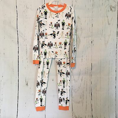 Pottery Barn Kids ~HALLOWEEN~ Tight-Fit PAJAMAS 10 GHOST~ PJs Sheets GHOST PBK