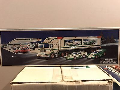 Hess Truck - Toy Truck and Racers - In Box - 1997