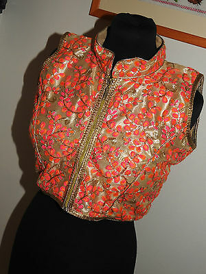 "Beautiful Authentic Handmade Indian Wedding Party Blouse Designer UK14 38"" Chest"