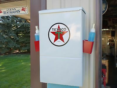 Vintage 1945 Texaco Gas Station Paper Towel Windshield Service Box