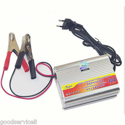 12V 10A Car Motorcycle Battery Charger Lead Acid Charger 220V IN Portable Kit
