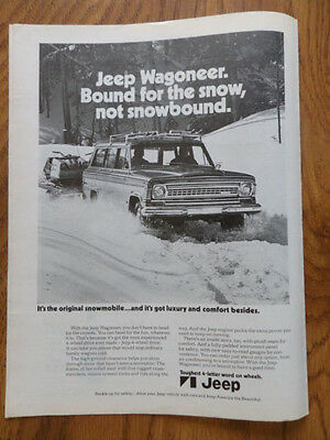 1973 Jeep Wagoneer Ad Bound for the Snow Not Snowbound