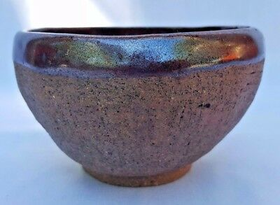 """Hand Thrown Studio Art Pottery FOOTED BOWL  3 1/2"""" Tall x 5"""" Wide EXCELLENT"""