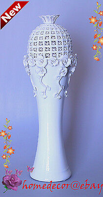 Luxury Quality Ceramic Vase - Handmade from Fine China - 47 cm Height - On Sale