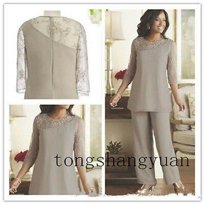 PLUS SIZES MOTHER of the Bride Dresses Pant Suits 3/4 Sleeve ...