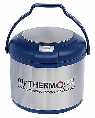 Premium 5L My Thermo Pot Thermal Mythermopot Camping Caravan Slow Cooker Blue