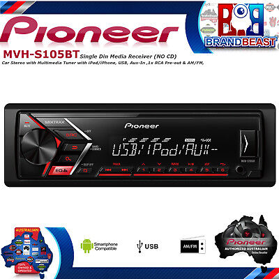 Pioneer MVH-S105UI Car Stereo With Rds Tuner, NO CD, Usb And Aux-in MVHS105UI
