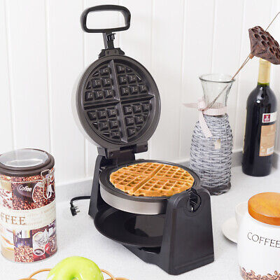Square Waffle Maker Stainless Steel Baking Cook Machine Non-Stick Plate 1100W
