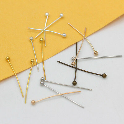 16/20/25/30mm gold silver bronze ball head pins jewelry craft beading findings