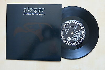 "SLAYER Seasons In The Abyss UK 7"" in picture sleeve Def American 1990 Mint"