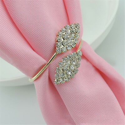 4PCS Rhinestone Napkin Ring Serviette Buckle Holder Wedding Banquet Dinner Decor