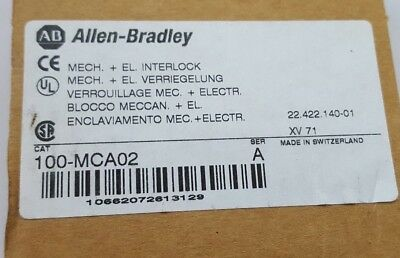 ALLEN BRADLEY 100-MCA02 SER A Mechanical Interlock (R4S3.4B2)