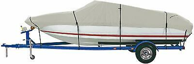 Boat Cover Waterproof Silver Reflective Fits V-HULL TRI-HULL Fishing Boat I6Q4