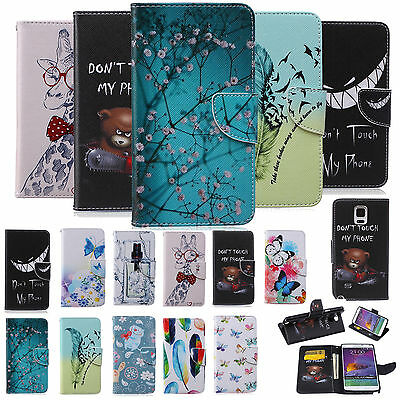 New Magnetic Flip Leather Card Holder Stand Case Cover For Samsung Galaxy Phones