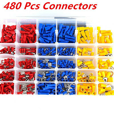 480x Assorted Vehicle Auto Car Electrical Wire Terminals Insulated Crimp Connect