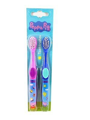 Official Peppa Pig Toothbrush Twin Pack (pink & blue)