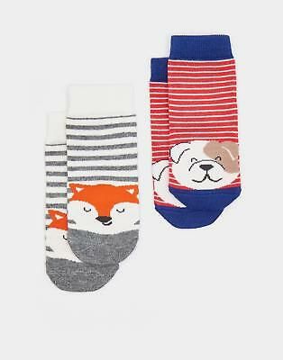 Joules 124474 Baby Boys Neat Feet Hypoallergenic Character Socks in Dog