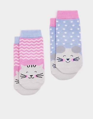 Joules 124468 Baby Girls Neat Feet Hypoallergenic Character Socks in Mouse