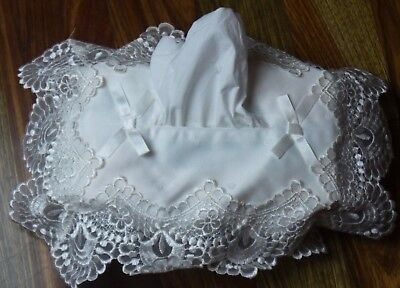 Chantilly Lace Designer Tissue Box Cover Off White New Free Delivery 1,2,3,6