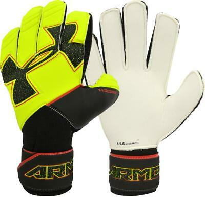 Brand New Youth Soccer Under Armour Goalkeeper Goalie Gloves Neon Yellow & Black