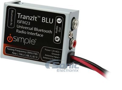 iSimple ISFM23 TranzIt BLUE Universal Bluetooh Enabled FM Transmitter Car Kit