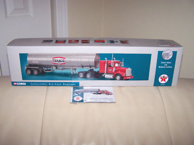 Corgi - Us55703 Kenworth W925 Texaco  Semi - Gas Tanker Case Fresh- Mib Last One