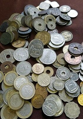 50 World Foreign Coins, An Excellent Assortment Including 100 year old Coin!