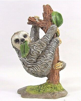 Sloth hanging in tree mini collection decor figurine