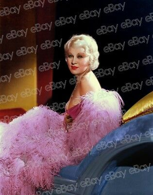 Mae West 1930's FULL COLOR Hurrell Photo Original Negative transparency Vintage