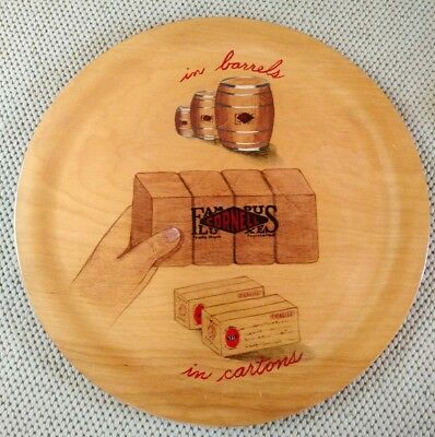 "Maine's Own ""Art On Wood"" Barneys Studios Portland ME Cornell Famous Luxe Tray"