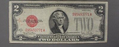 1928 G $2 Dollar Red Seal United States Note #2