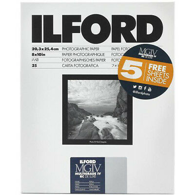"Ilford Multigrade IV RC DeLuxe Paper (Pearl, 8 x 10"", 30 Sheets) #1178283"