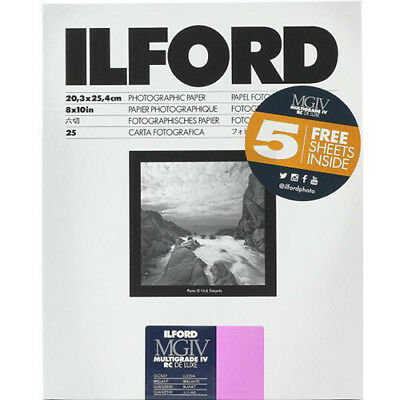 """Ilford Multigrade IV RC DeLuxe Paper (Glossy, 8 x 10"""", 30 Sheets) #1178274"""